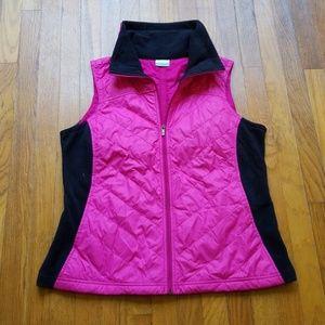 Columbia Women Pink Black Vest